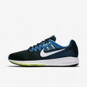 Nike air zoom structure 20 para hombre negro/azul foto/verde fantasma/blanco_336