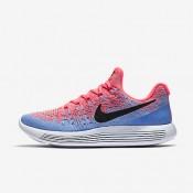 Nike lunarepic low flyknit 2 para mujer ponche cálido/aluminio/azul universitario/negro_038