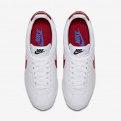 Nike classic cortez leather para mujer blanco/royal universitario/rojo universitario_061