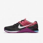 Nike metcon dsx flyknit para mujer negro/rosa carrera/hipervioleta/blanco_102