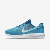 Nike lunarglide 8 para mujer azul cloro/azul industrial/rosa carrera/azul glacial_115