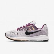 Nike air zoom structure 20 para mujer blanco/baya genuino/resplandor crepuscular/negro_118