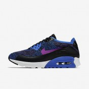 Nike air max 90 ultra 2.0 flyknit pncl para mujer azul carrera/hipervioleta_384