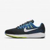 Nike air zoom structure 20 para hombre negro/azul foto/verde fantasma/blanco_367