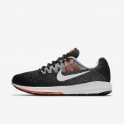 Nike air zoom structure 20 para hombre negro/plata mate/hipernaranja/blanco_658