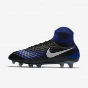 Nike magista obra ii fg para hombre negro/azul extraordinario/aluminio/blanco_669