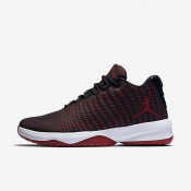 Nike jordan b. fly para hombre negro/gris oscuro/blanco/rojo gimnasio_783