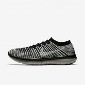 Nike lab free rn motion flyknit para hombre negro/gris pálido/vela_937