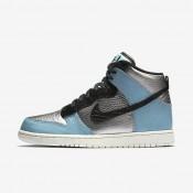 Nike dunk high lx para mujer plata metalizado/azul mica/marfil/negro_110