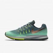 Nike air zoom pegasus 33 shield para mujer hasta/verde resplandor/verde fantasma/bronce rojo metálico_150