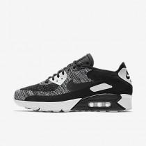 Nike air max 90 ultra 2.0 flyknit para hombre negro/blanco/negro_002