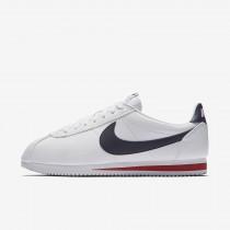 Nike classic cortez leather para hombre blanco/rojo gimnasio/azul marino medianoche_098