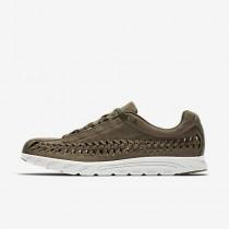 Nike mayfly woven para hombre oliva medio/negro/hueso claro_145