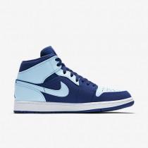 Nike air jordan 1 mid para hombre royal team/blanco/azul hielo_159