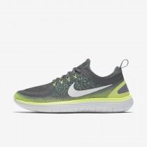 Nike free rn distance 2 para hombre sigilo/gris oscuro/verde eléctrico/blanco cáscara de huevo_362