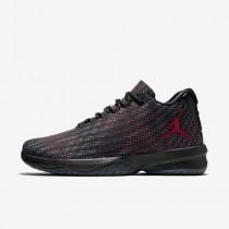 Nike jordan b. fly para hombre negro/gris oscuro/rojo gimnasio_387