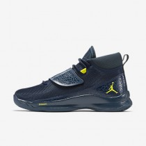 Nike jordan super.fly 5 po para hombre azul marino militar/azul marino militar/lima eléctrico_405