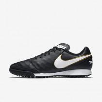 Nike tiempox genio ii leather tf para hombre negro/blanco_538