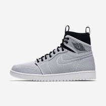 Nike air jordan 1 retro ultra high para hombre blanco/negro/platino puro/moneda de oro metalizado_727