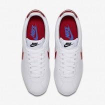 Nike classic cortez leather para mujer blanco/royal universitario/rojo universitario_061
