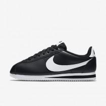Nike classic cortez leather para mujer negro/blanco/blanco_066