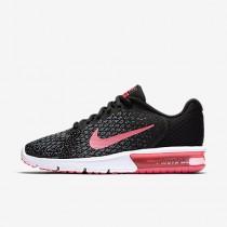 Nike air max sequent 2 para mujer negro/antracita/gris azulado/rosa carrera_098