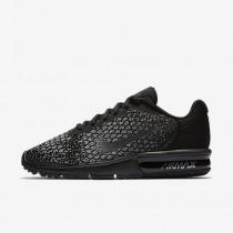 Nike air max sequent 2 para mujer negro/gris oscuro/gris lobo/hematita metálico_100