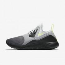 Nike flyknit racer para mujer gris oscuro/negro/voltio/voltio_145