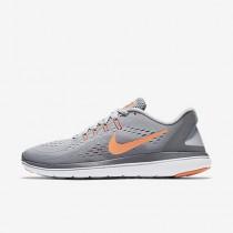 Nike flex 2017 rn para mujer gris lobo/gris azulado/mango brillante/resplandor crepuscular_229
