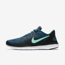 Nike flex 2017 rn para mujer azul legión/negro/ponche cálido/verde resplandor_230
