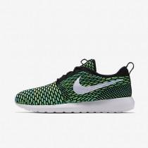Nike roshe flyknit para hombre negro/verde voltaje/voltio/blanco_174