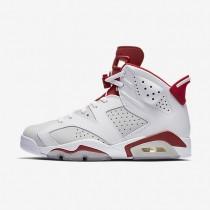 Nike air jordan 6 retro para hombre blanco/platino puro/rojo gimnasio_286
