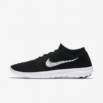 Nike free rn motion flyknit para hombre negro/voltio/gris oscuro/blanco_304
