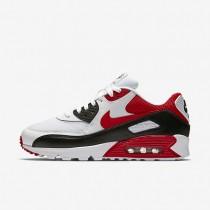 Nike air max 90 essential para hombre blanco/negro/gris lobo/rojo universitario_310