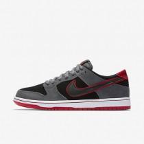 Nike sb dunk low pro ishod wair para hombre gris oscuro/rojo universitario/blanco/negro_437