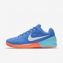 Nike court zoom cage 2 clay para hombre azul medio/azul polarizado/hipernaranja/blanco_462