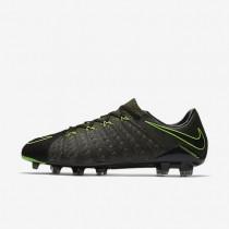Nike hypervenom phantom 3 tech craft fg para hombre negro/secuoya/verde palmera/verde eléctrico_552