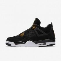 Nike air jordan 4 retro para hombre negro/blanco/oro metalizado_620