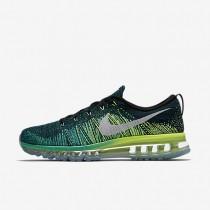 Nike flyknit air max para hombre negro/jade transparente/voltio/blanco_659