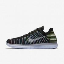 Nike free rn flyknit para hombre negro/voltio/laguna azul/blanco_662