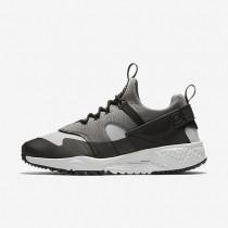 Nike air huarache utility para hombre gris básico/gris básico medio/negro/gris ceniza claro_698