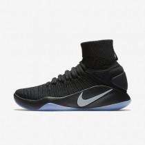 Nike hyperdunk 2016 flyknit para hombre negro/platino metalizado_782