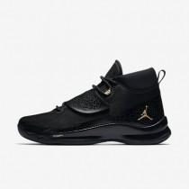 Nike jordan super.fly 5 po para hombre negro/negro/antracita/oro metalizado_786