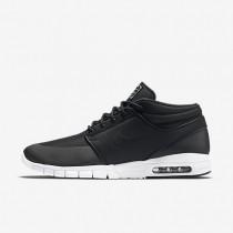 Nike sb stefan janoski max mid para hombre negro/plata metalizado/blanco/negro_814