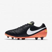 Nike tiempo genio ii leather ag_pro para hombre negro/hipernaranja/voltio/blanco_878