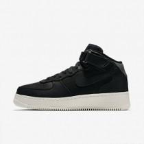 Nike lab air force 1 mid para hombre negro/negro/vela/negro_932
