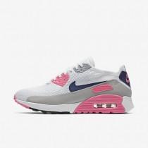 Nike air max 90 ultra 2.0 flyknit para mujer blanco/rosa láser/negro/concordia_001