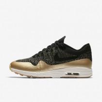 Nike air max 1 ultra 2.0 flyknit metallic para mujer negro/estrella de oro metálico/ópalo liso/negro_021