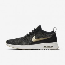Nike air max thea ultra flyknit metallic para mujer negro/marfil/estrella de oro metálico_022
