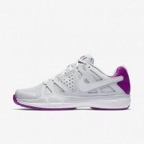 Nike court air vapor advantage para mujer platino puro/morado vivo/blanco/blanco_179